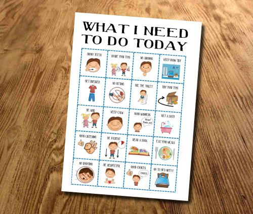 Kids, Boys What I need to do today, Routine chart, Daily Checklist, Kids Pl
