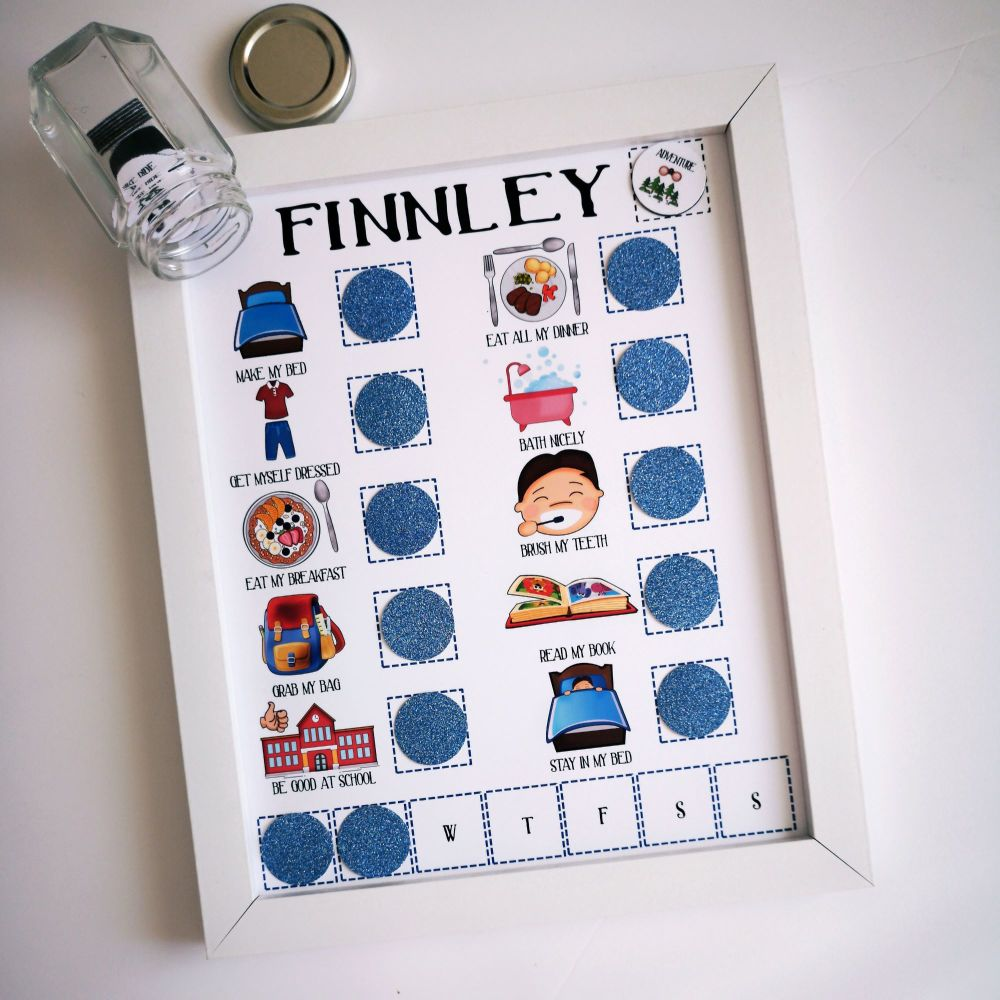 Imagery Reward Chart, Personalised Magnetic Reward Chart, Early Years, Todd