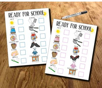Back to School Offer! Kids, Ready for School, morning routine, School Morning Planner