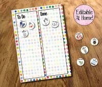 Kids Chore Chart, To do list, Kids Routines, Routine Chart, Kids PlannerThe To and Done Chart is sized at 8 x 10 inches  The chore tokens pages are si