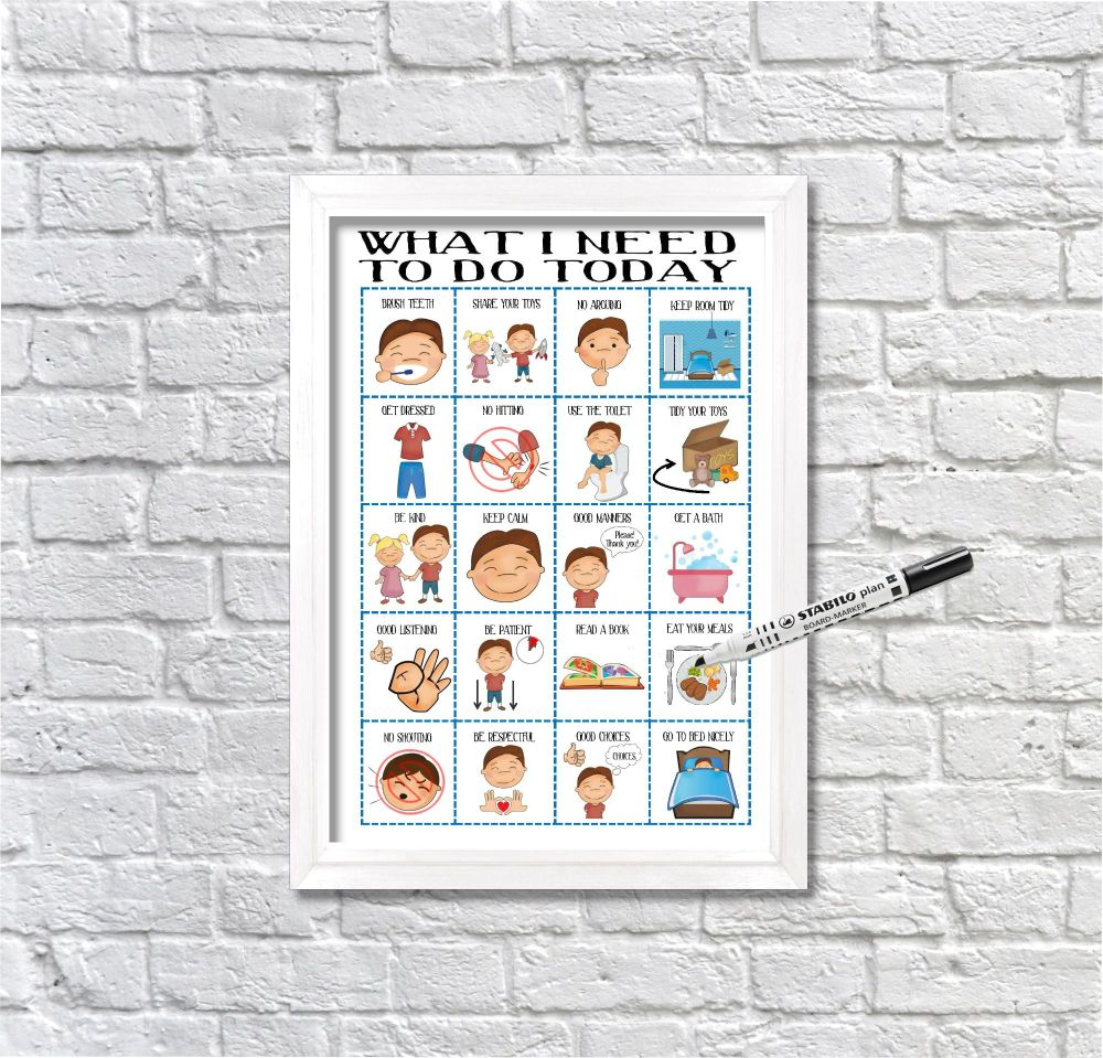Boys, Routine Chart, kids daily planner, kids routine, visual aid, visual s