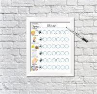 Kids Potty Training Reward Chart, Boys Printable Download, Picture toilet routine, Potty visual aid, Toddler toilet routine, sticker, star chart