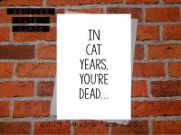 In cat years, you're dead
