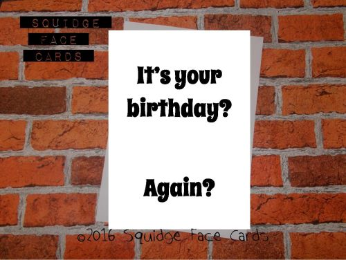 White greeting card witht he text