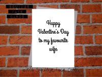 Happy Valentine's Day to my favourite Wife