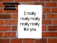 I really really really really really like you