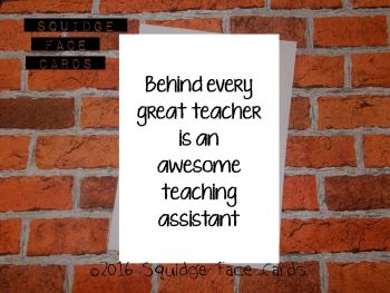 Behind every great teacher is an awesome teaching assistant