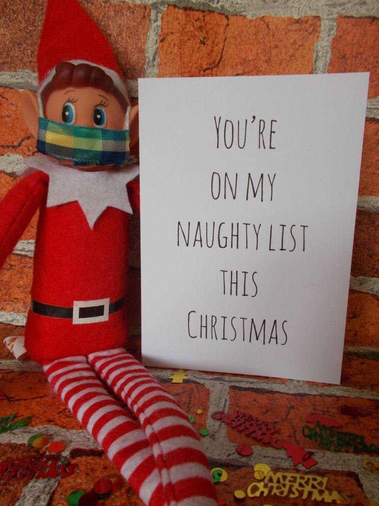 You're on my naughty list this Christmas