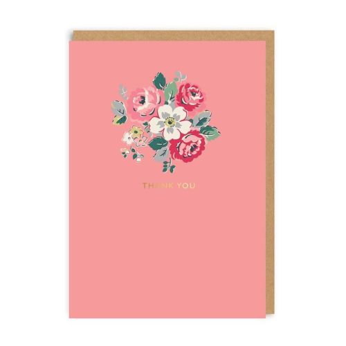 Floral hank you card