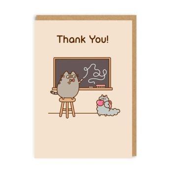 Pusheen Thank you - teacher card
