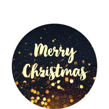 Gold sparkles Christmas stickers