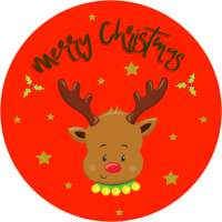 Rudolph face christmas stickers