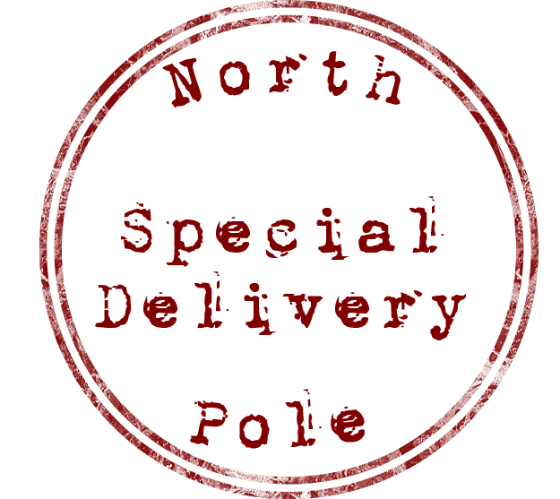 North Pole Special delivery stickers