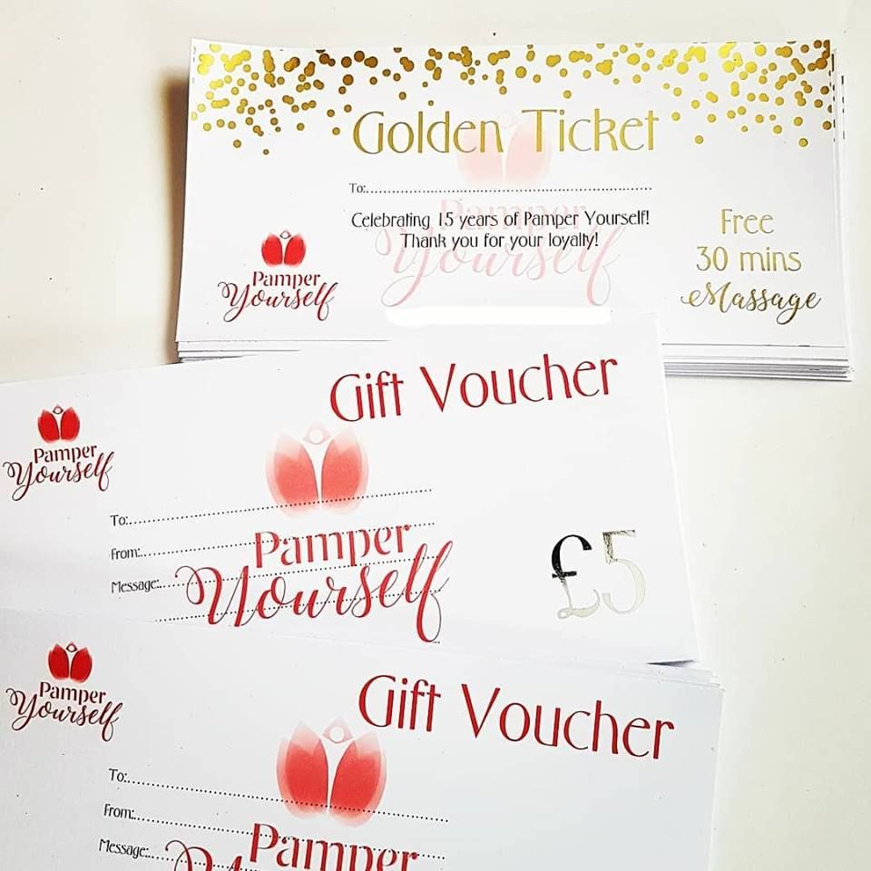 Gift Voucher Design and print service