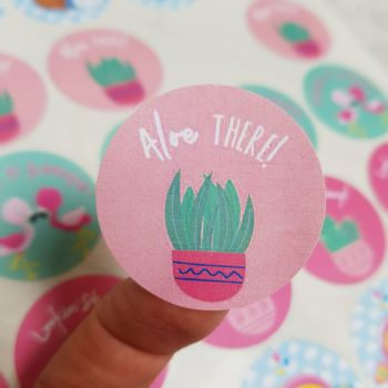 """37mm """"Aloe there"""" happy mail sticker"""