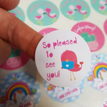 """37mm """"So pleased to see you"""" happy mail sticker"""