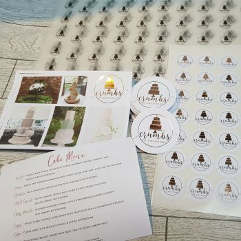 Foiled Leaflets, notelets and price lists