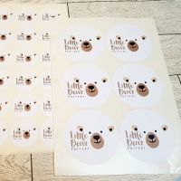 88mm business stickers- Gloss