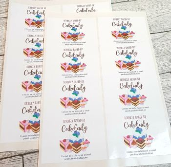 Rectangle stickers Gloss 99mm x 68mm