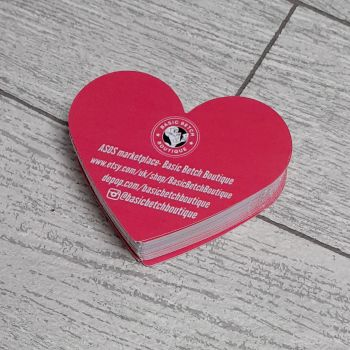 Heart shaped, design and print