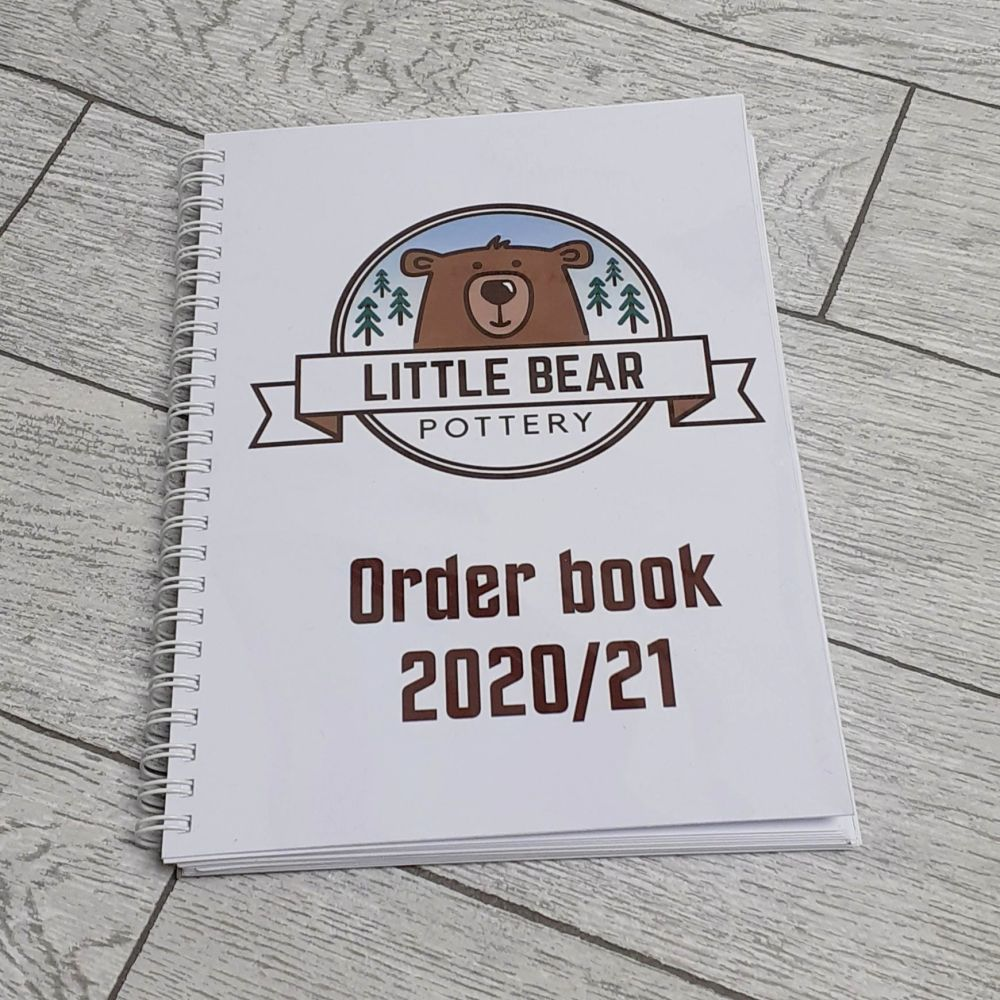 Order Books with perforated receipts