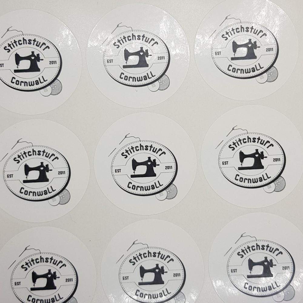 50mm round business stickers - Gloss