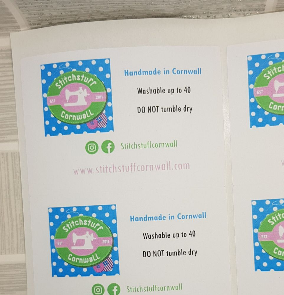 Rectangle stickers- Gloss 99 x 58mm