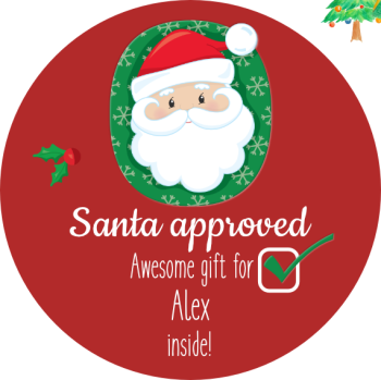 Santa approved! Personalised stickers