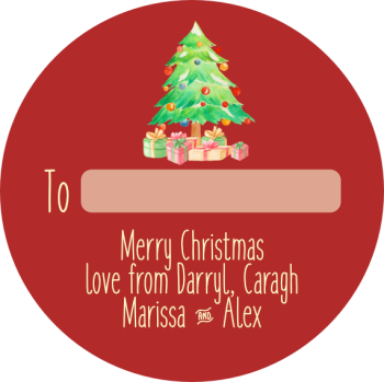 Christmas tree and presents no2: Personalised stickers