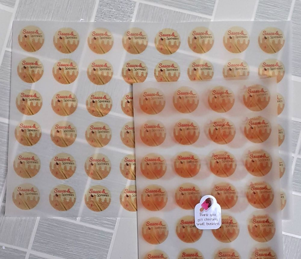 Logo vellum wrapping sheets A3