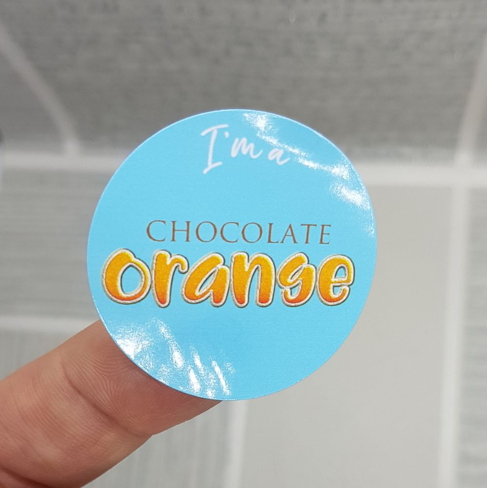 Gloss finish stickers; Various sizes