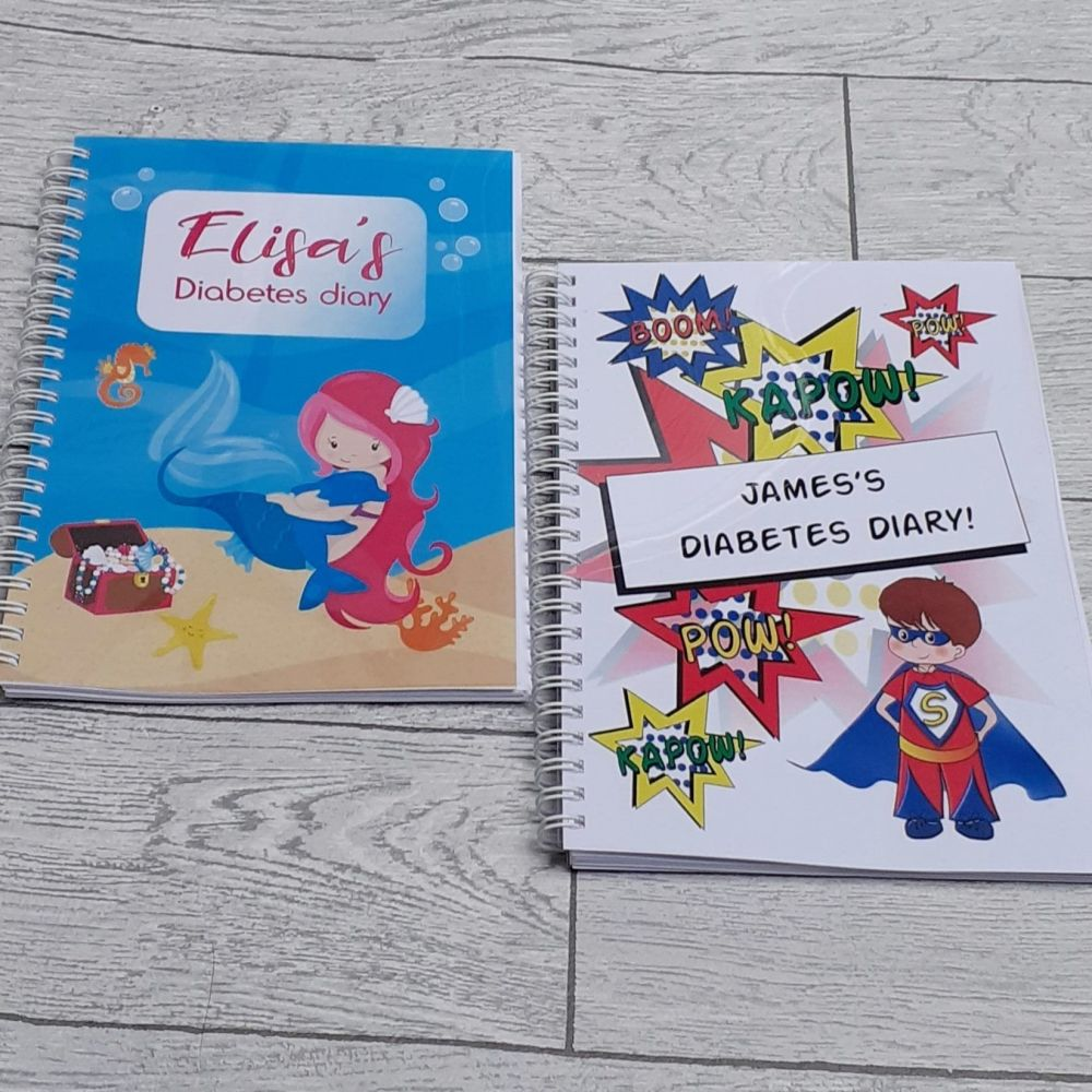 Kids Diabetes diaries layout 1: for injections