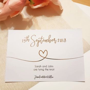 Foiled simple & Elegant Save the Dates