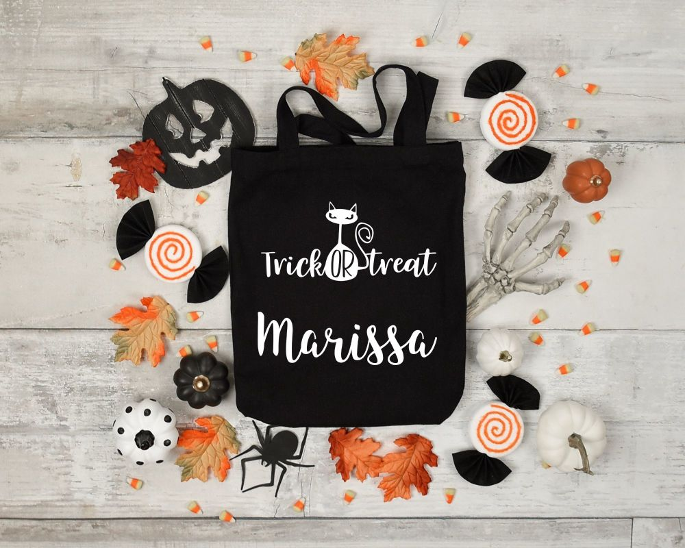 Haunted house treat bags.