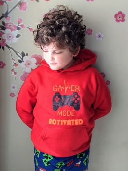 Kids Gamer mode activated hoodie