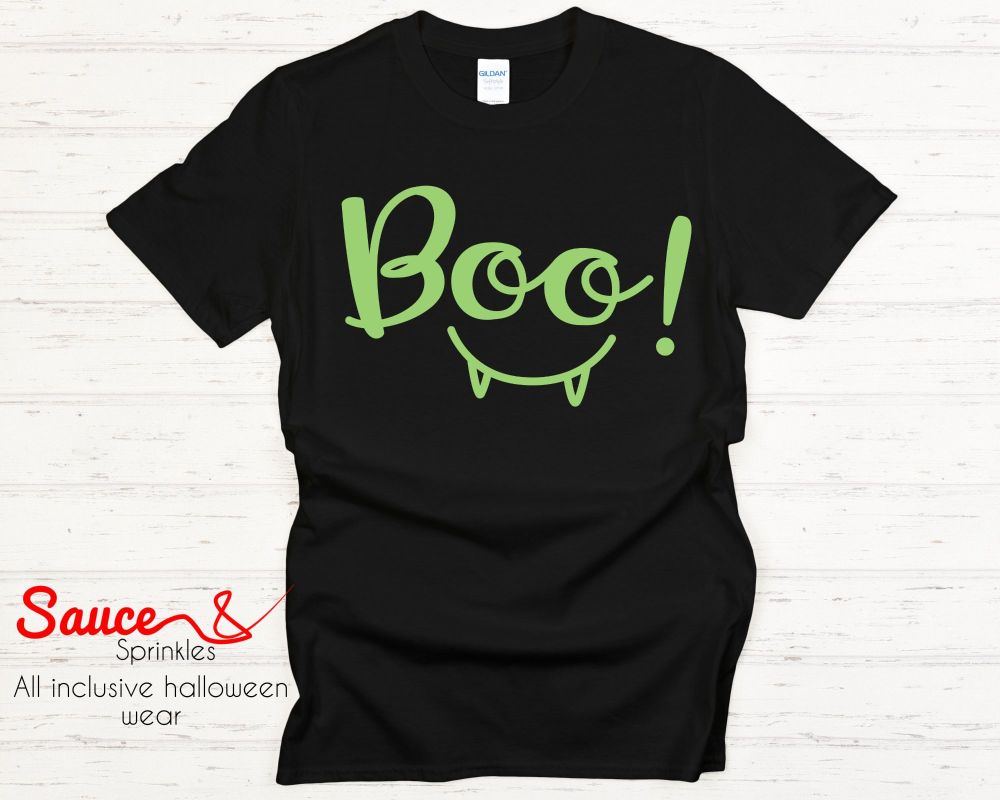 BOO tees - various colours and designs