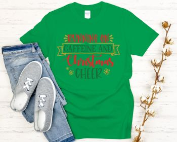 Running on Caffine and Christmas cheer T-shirt