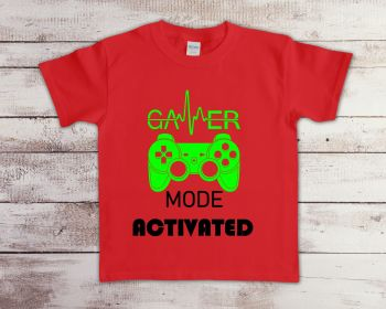 Gamer mode activated kids tee