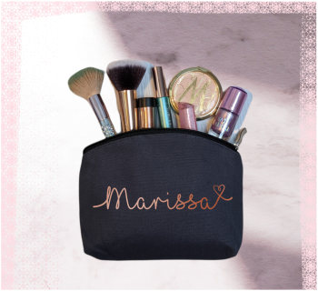 Personalised pouch make up bags