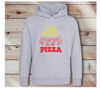I'm only here for the Pizza: Kids Unisex Hoodie