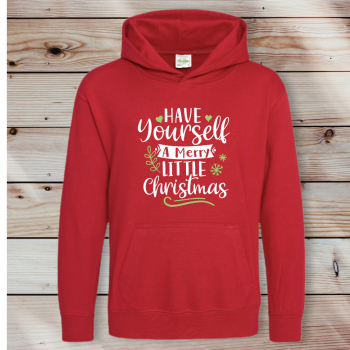 Have yourself a Merry little Christmas: Adult Unisex Hoodie
