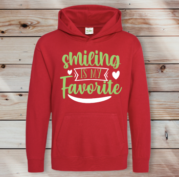 Smiling is my favourite Adult Unisex Hoodie