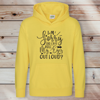 Did I roll my eyes out loud? Adult Hoodie