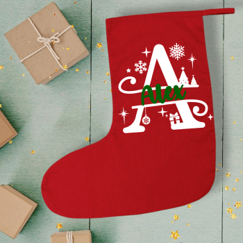 Christmas stocking: Personalised Initial