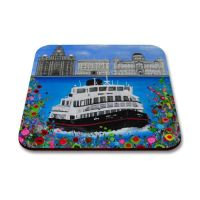 Jo Gough - The 3 Graces Liverpool with flowers Coaster