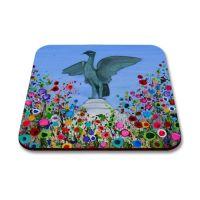 Jo Gough - Liverbird Liverpool with flowers Coaster