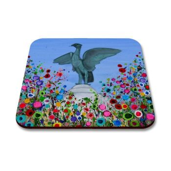 Jo Gough - Liverbird Liverpool with flowers Coaster