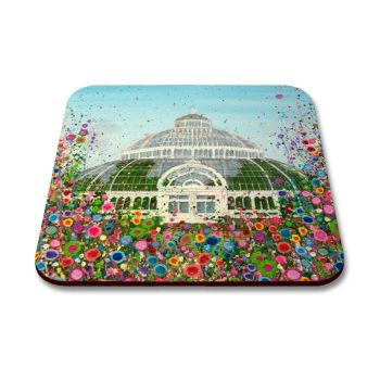 Jo Gough - The Palm House Liverpool with flowers Coaster