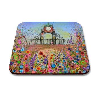 Jo Gough - Chester Clock with flowers Coaster