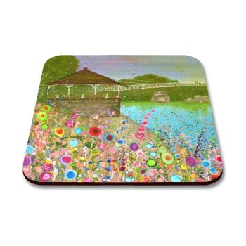 Jo Gough - The Groves Chester with flowers Coaster